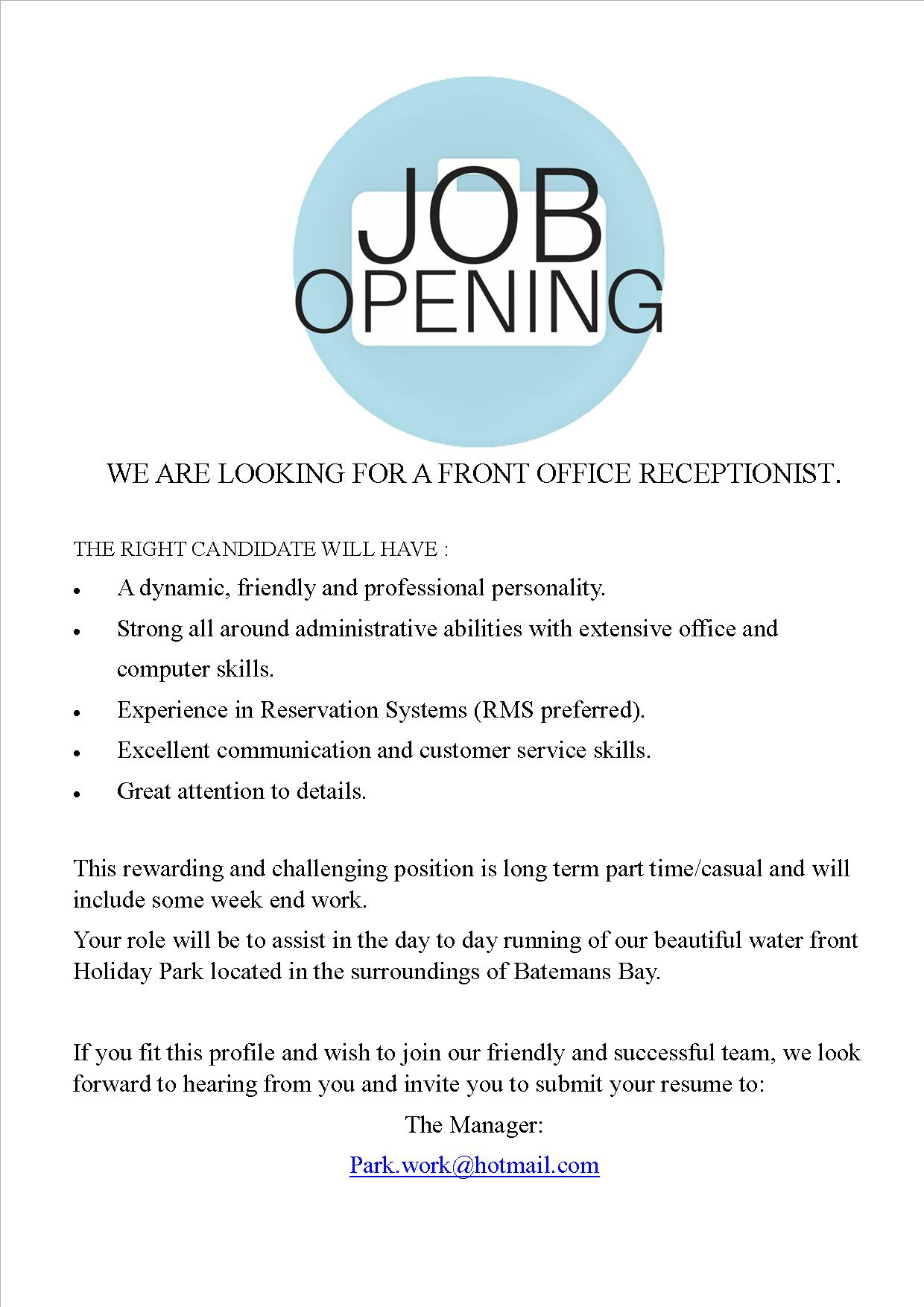 Job File   Clyde View Holiday Park